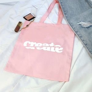 "Handbags - Pink Tote Bag - ""Create"""